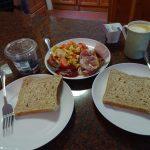 カノンコップのゲストハウスでの朝食
